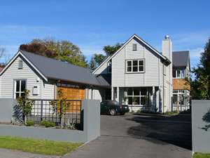 Architectural homes christchurch for Long narrow house plans nz